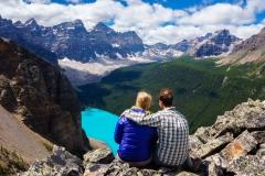 Moraine Lake from Tower of Babel