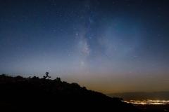 Milky Way vs Light Pollution at Keys Point