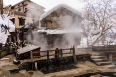 Steam Rising from an Onsen