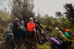 Guide, Porter, and Cook on Mount Elgon, Uganda