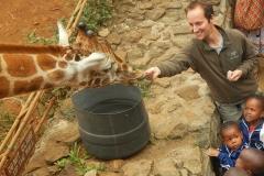 Feeding the Giraffes at the Nairobi Giraffe Centre