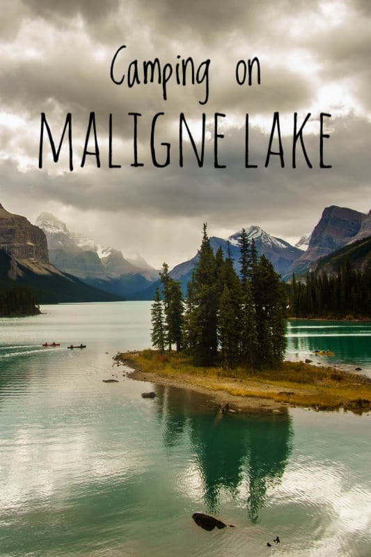 Canoe Camping on Maligne Lake