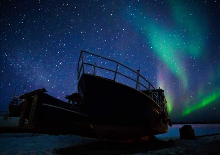 Yellowknife Milky Way at Giant Mine Dock