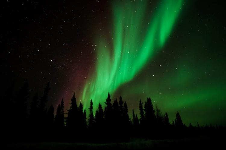 Northern Lights in Yellowknife, Canada
