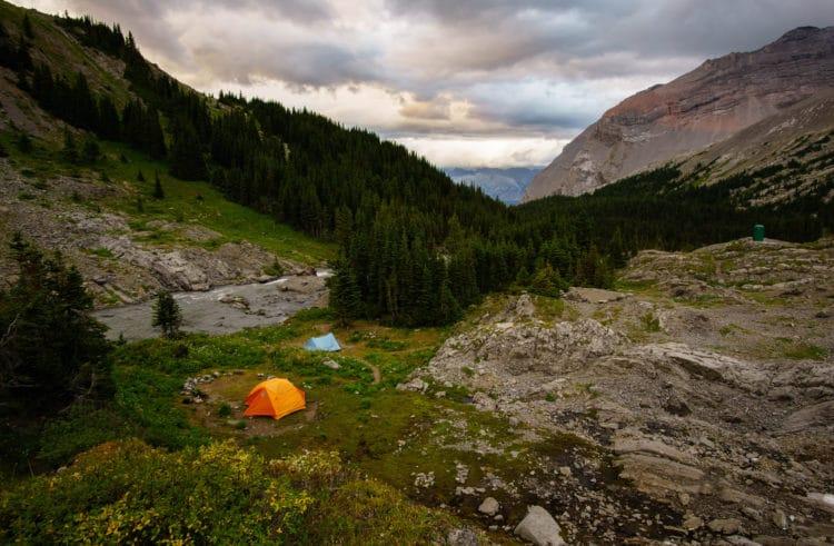 Tents at Aster Lake Campground