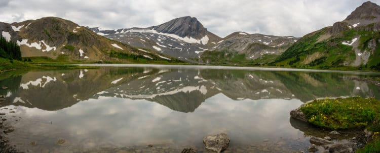 Clear reflections on Aster Lake