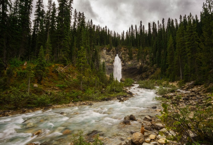 Laughing Falls at Yoho National Park