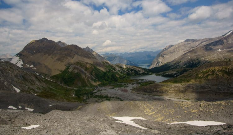 Looking down towards Aster Lake from our wrong turn