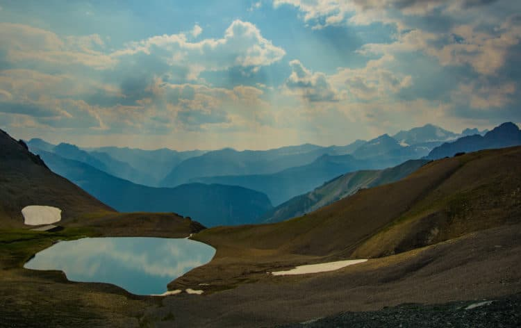 Tarn on Northover Ridge, an option for wilderness camping