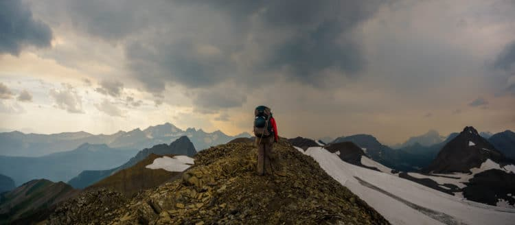 On top of Northover Ridge. British Columbia on the left, Alberta on the right.
