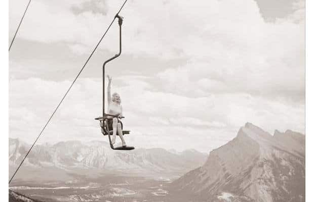 Marilyn Monroe at Mt Norquay in 1953
