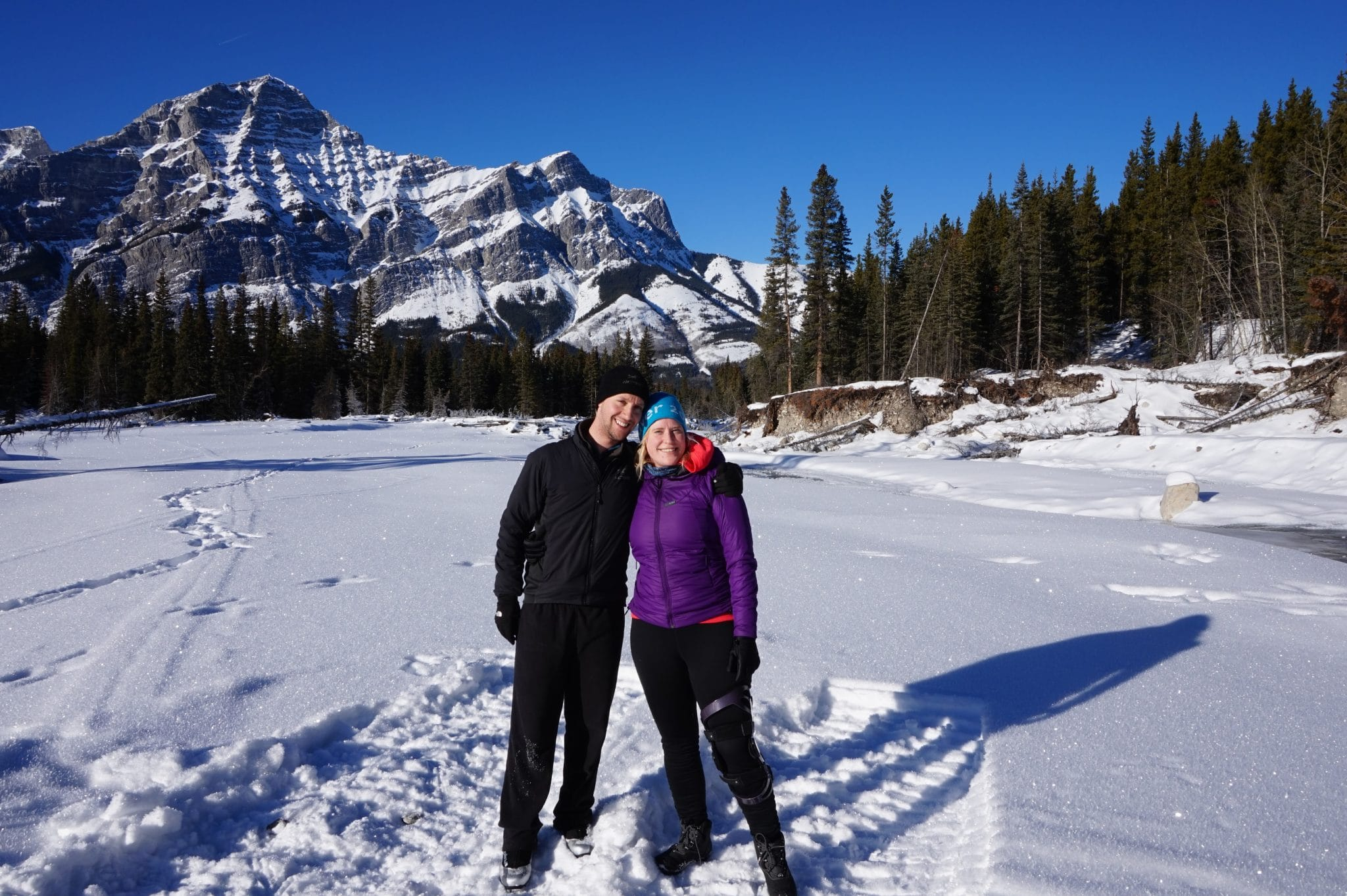 The end of Wedge Connector in Kananaskis Country