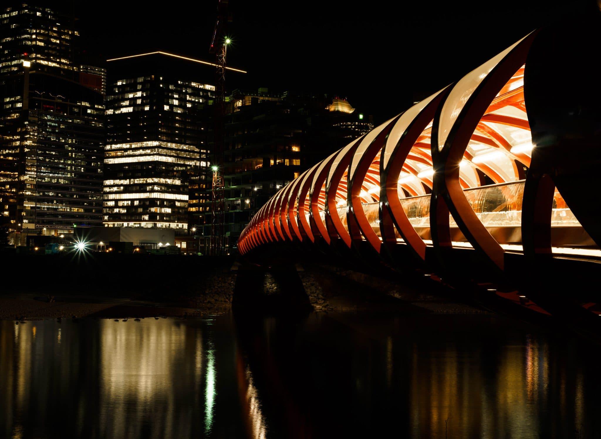 The Peace Bridge at Calgary