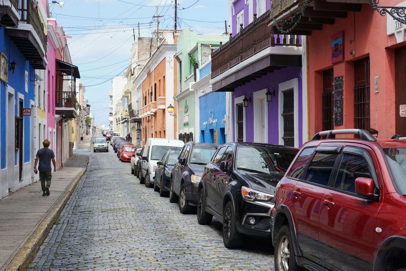The cobblestone streets of Old San Juan