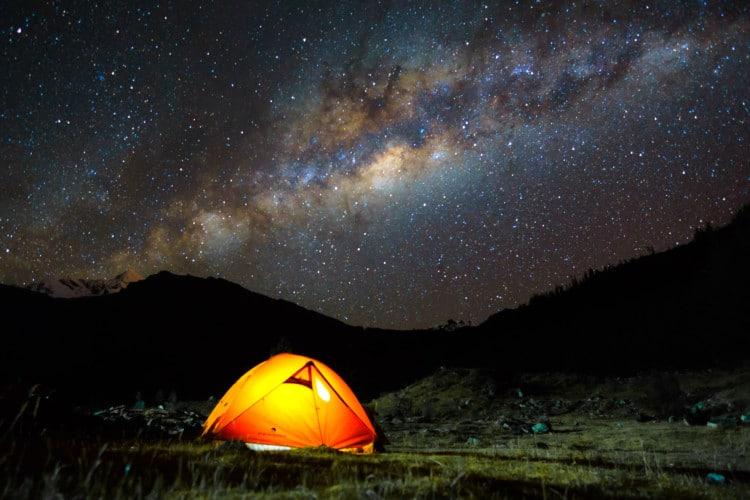 Amazing Stars while Camping outside Huaraz