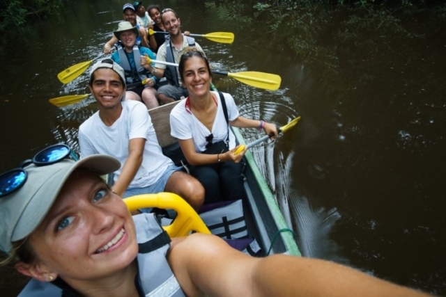 Canoeing in the Ecuador Amazon