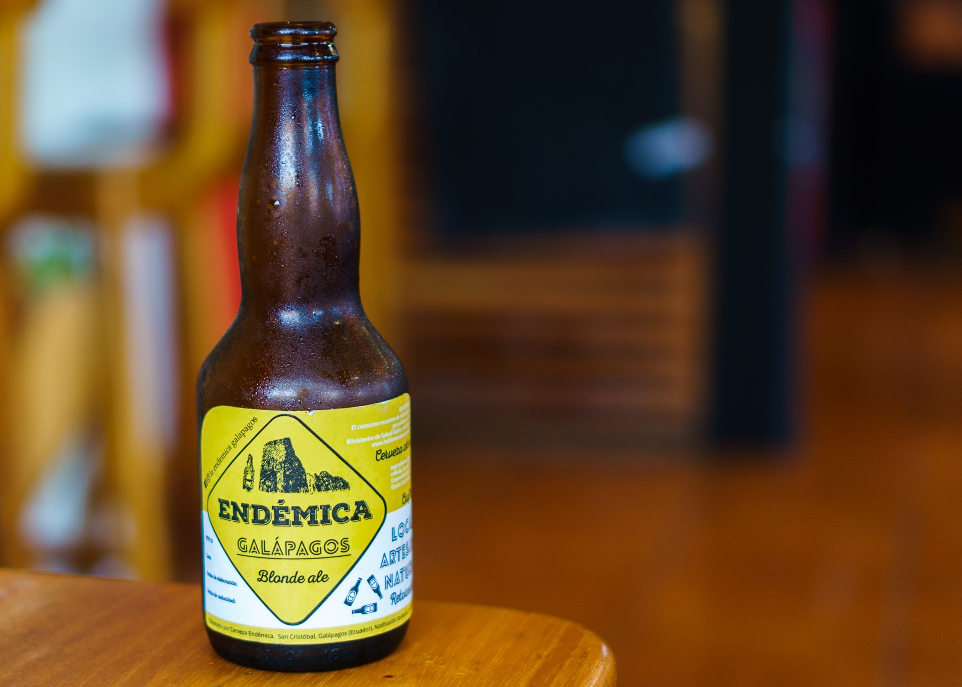 Endemica Beer, brewed on San Cristobal Island