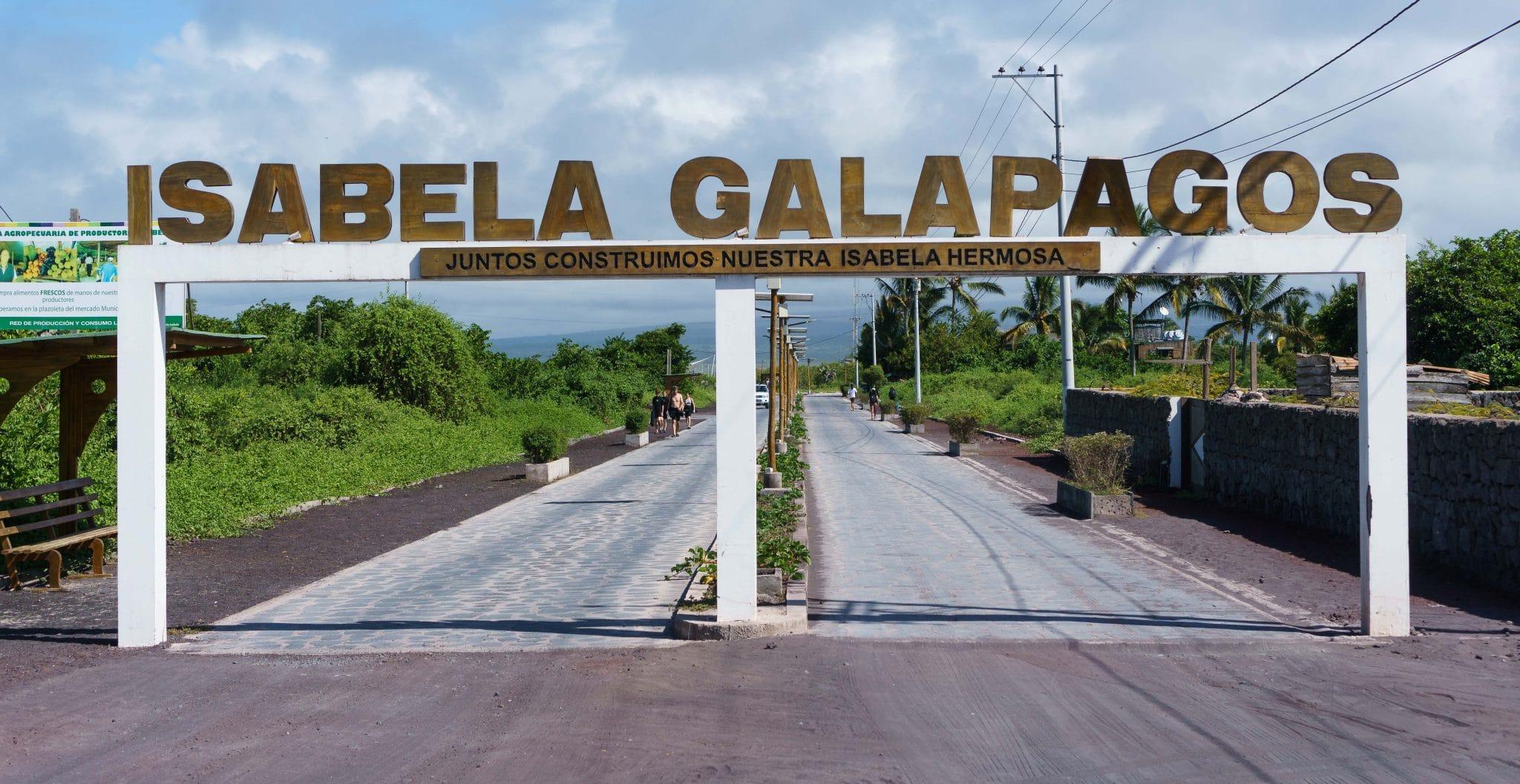 Isabela Galapagos Sign