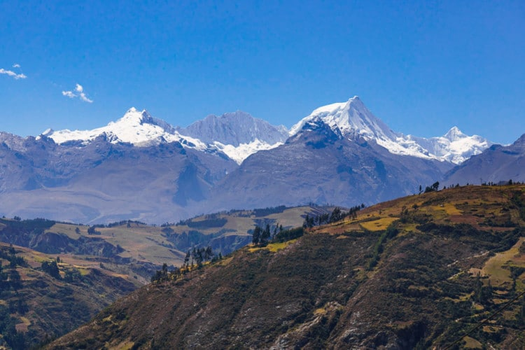 The Cordillera Blanca and the foothills above Huaraz are fantastic for hiking