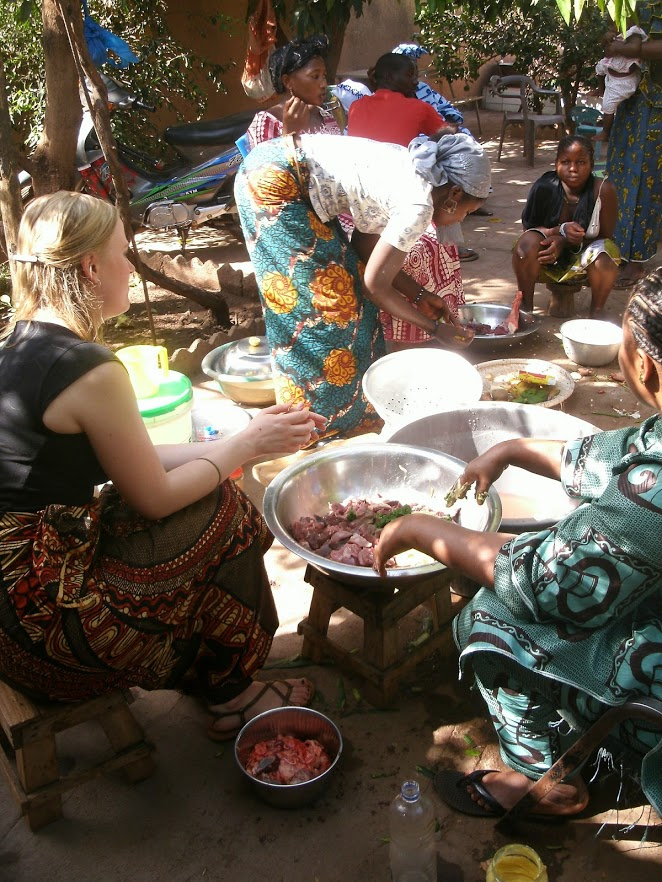 making local food in Mali