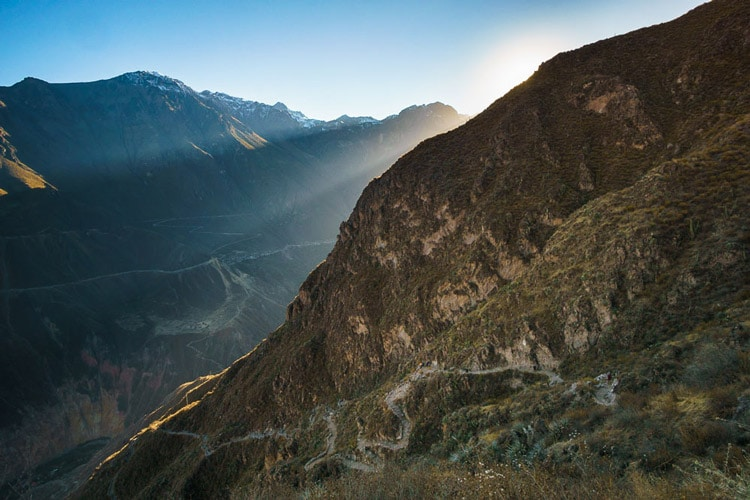 Sunrise at Colca Canyon