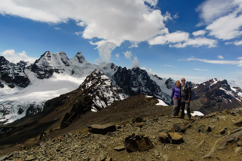 The Summit of Pico Austria in the Cordillera Real