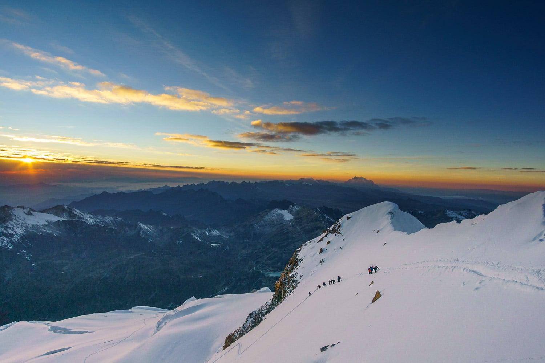 The final ridge of Huayna Potosi