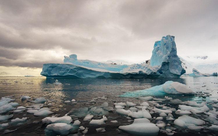 photo of an iceberg in antarctica