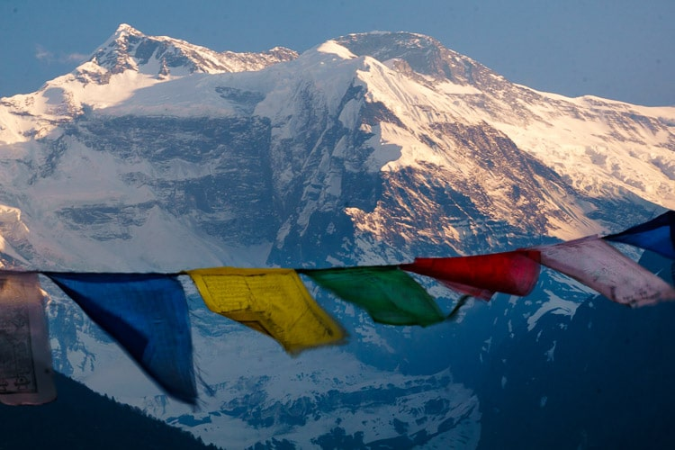 Nepal Mountains and Prayer Flags